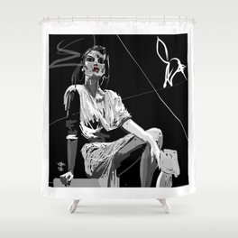 White CAT - Gerald Robin © Design Shower Curtain