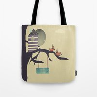 home sweet home Tote Bags featuring home sweet home by bri.buckley