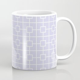 Periwinkle Purple Square Chain Pattern Coffee Mug