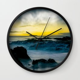 The Infinite Spirit Tranquil Island Of Twilight Maui Hawaii Wall Clock