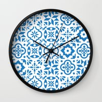 spanish Wall Clocks featuring Spanish Tiles by Morris & Essex