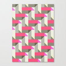 Herringbone geometric Canvas Print