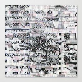 Surrender Your Information (P/D3 Glitch Collage Studies) Canvas Print
