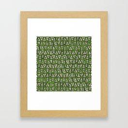 shakal green Framed Art Print