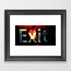 Exit II Framed Art Print