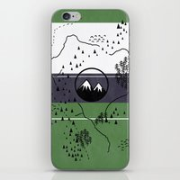 middle earth iPhone & iPod Skins featuring Middle Earth by Cécile Pellerin