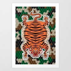 TIBETAN TIGER Art Print