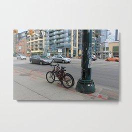 #tinybeasts (stegosaurus in a lamppost) Metal Print
