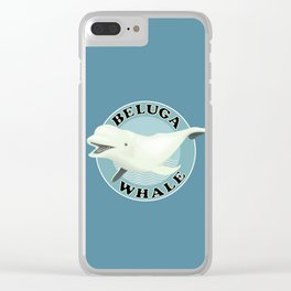 Beluga Whale Clear iPhone Case