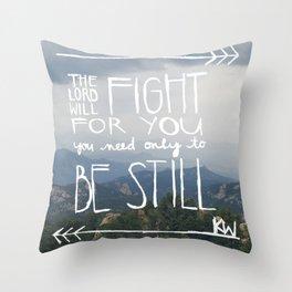 pray for katie// exodus 14:14 Throw Pillow