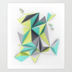 TRIANGLES//02 Art Print