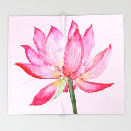 pink lotus flower Throw Blanket