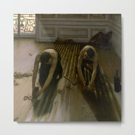 """Gustave Caillebotte """"The Floor Planers"""" Metal Print"""