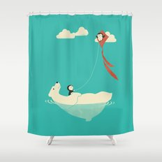 Parasailing Shower Curtain