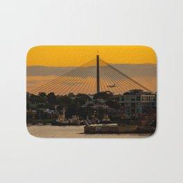 Sunset over Anzac Bridge, Sydney Bath Mat