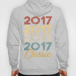 Vintage Classic 2017 Shirt 1st Birthday Party Celebration Gifts Hoody