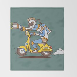 Space Scooterman Throw Blanket