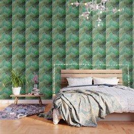 Absinthe Green Quartz Crystal Wallpaper