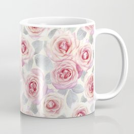 Mauve and Cream Painted Roses Coffee Mug