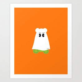 Ghost Gum Bear, Ours en guimauve fantôme - Halloween party Art Print