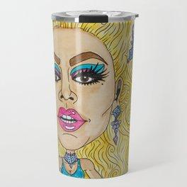 Rupaul Caricature -  Sarah Tanner Art Travel Mug