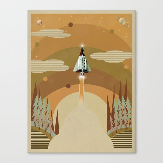 the adventure continues Canvas Print