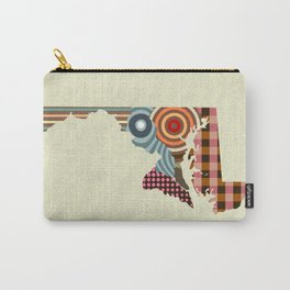 Maryland State Map Carry-All Pouch