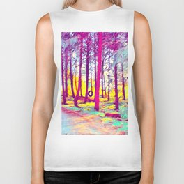 Let's Take Our Hearts For A Walk In The Woods and Listen to the Magic Whispers of Old Trees... Biker Tank