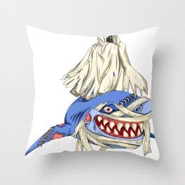 Halloween Shark Spooky Animal Lover Gift Idea Throw Pillow