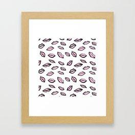Lippy Framed Art Print