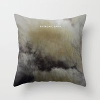 saga Throw Pillows featuring Entropic Saga by F A R I D A