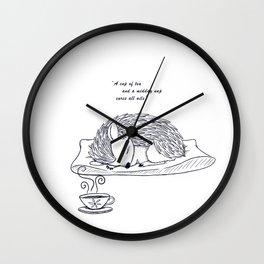Tea and Sleep Wall Clock