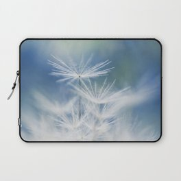dandelion white blue Laptop Sleeve