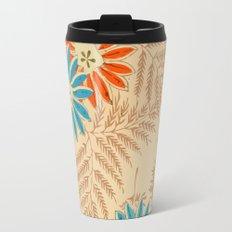 Japanese Vintage Flowers Pattern Travel Mug