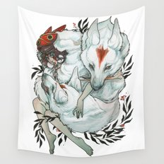 Wolf Child Wall Tapestry