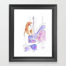 Elle Fanning, Somewhere Framed Art Print