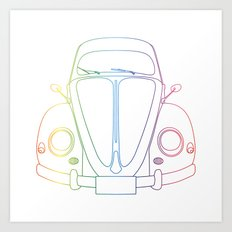 Rainbow Beetle Art Print