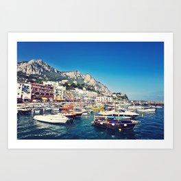 Capri Harbour Art Print