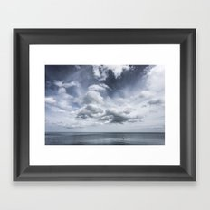 Sky and Ocean Framed Art Print