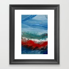 By the Angry Seashore Framed Art Print