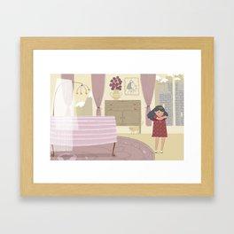 Baby sister Framed Art Print