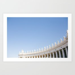 Rome 0001: Saint Peters Square, Piazza San Pietro, Vatican City, Rome, Italy Art Print