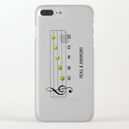 Peas & Harmony Clear iPhone Case