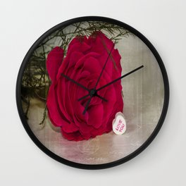 Love Rose  Wall Clock