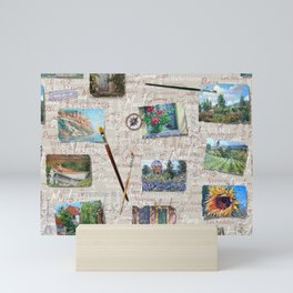 Postcards From France Pattern Mini Art Print