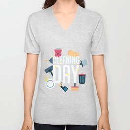 Cleaning Day Helper Or Housewife Gift Unisex V-Neck
