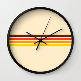 African Retro Stripes Wall Clock