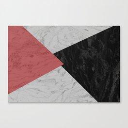 MARBLE TRIANGULES Canvas Print