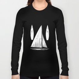 patent art Herreshoff  Sail Boat 1925 Long Sleeve T-shirt