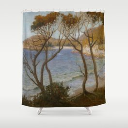 Pacific Beaches - Albert Hanson  Shower Curtain